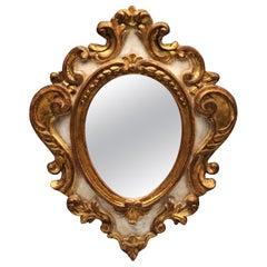 Small Decorative Venetian Rococo Italian Giltwood Wall Mirror