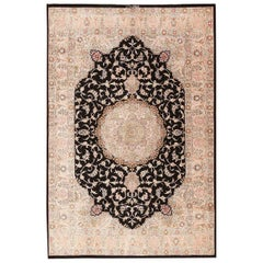 Small Decorative Vintage Persian Silk Qum Rug. 4 ft 3 in x 6 ft 7 in