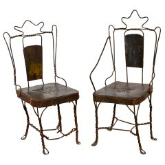 Small Decorative Wire Chairs, 20th Century