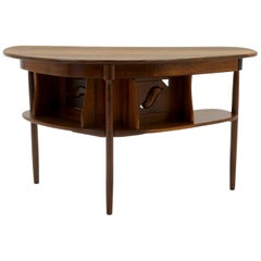 Small Desk by Clarence Teed, Unique One of a Kind, Handmade, Black Walnut