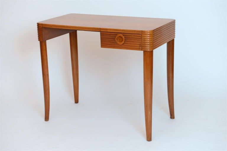 Small desk probably by Paolo Buffa. Italy circa 1950 in cherrywood.