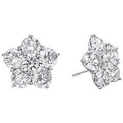 "Small Diamond ""Astra"" Stud Earrings '1.13 Carat'"