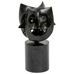 Small Double Janus Bronze Sculpture, USA, 1960s