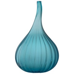 Small Drops Lucido Vase in Glass by Renzo Stellon