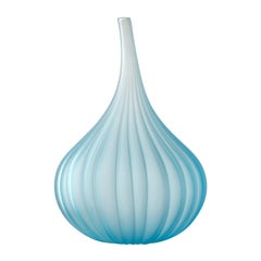 Small Drops Satinato Vase in Murano Glass by Renzo Stellon