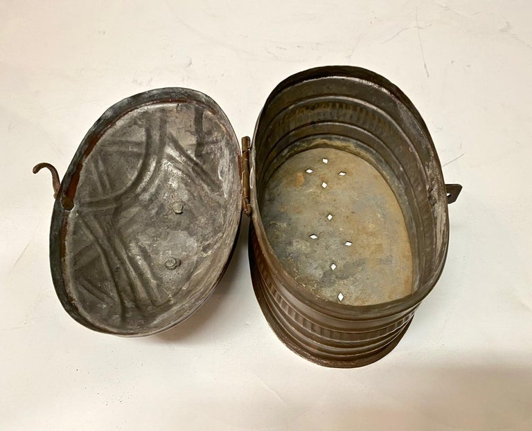 19th Century Small Dutch Coach or Foot Warmer or Coal Box For Sale