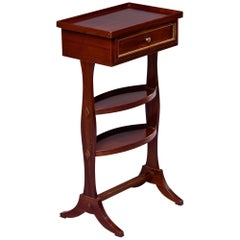 Small Early 20th C French Mahogany Side Table