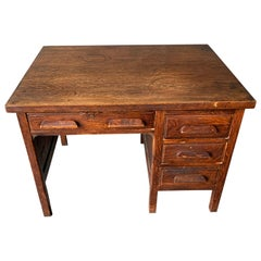 Small Early 20th Century American 3-Drawer Office Desk