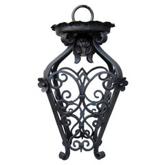 Small Early 20th Century Scrolling Iron Lantern