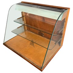 Small Early American Vintage Two-Tier Tabletop Shop Display Case