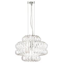 Small Ecos SP 60C Chandelier with Matte Bronze Frame by Vistosi