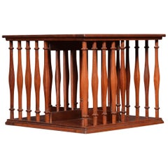Small Edwardian Mahogany Table Top Revolving Bookcase