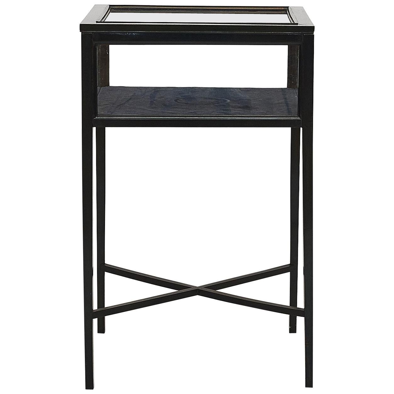 Small Empire Style Display Case Table