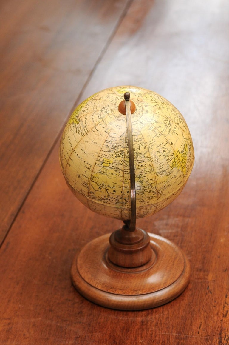 Small English 20th Century George Philip Terrestrial Globe on Wooden Base For Sale 7