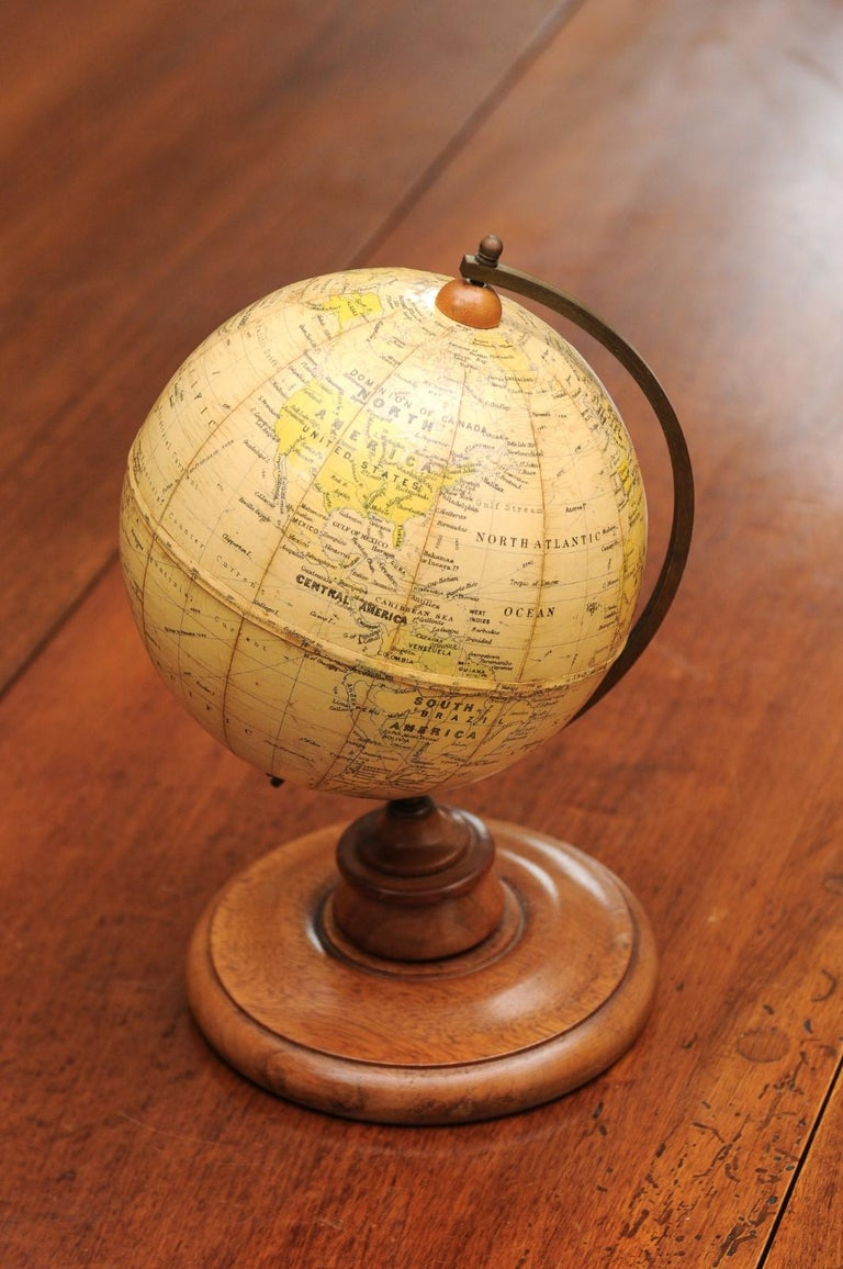 Small English 20th Century George Philip Terrestrial Globe on Wooden Base For Sale 8