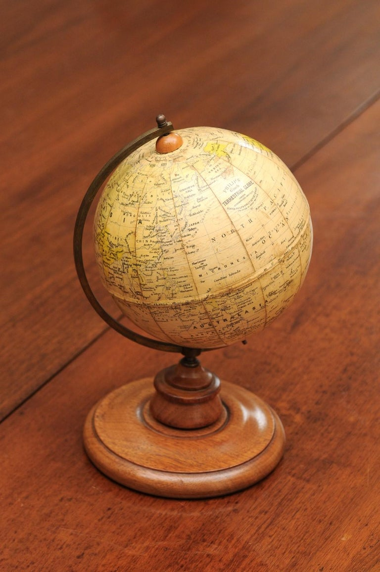 Small English 20th Century George Philip Terrestrial Globe on Wooden Base For Sale 10