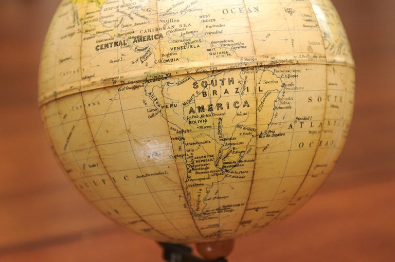 Small English 20th Century George Philip Terrestrial Globe on Wooden Base For Sale 5
