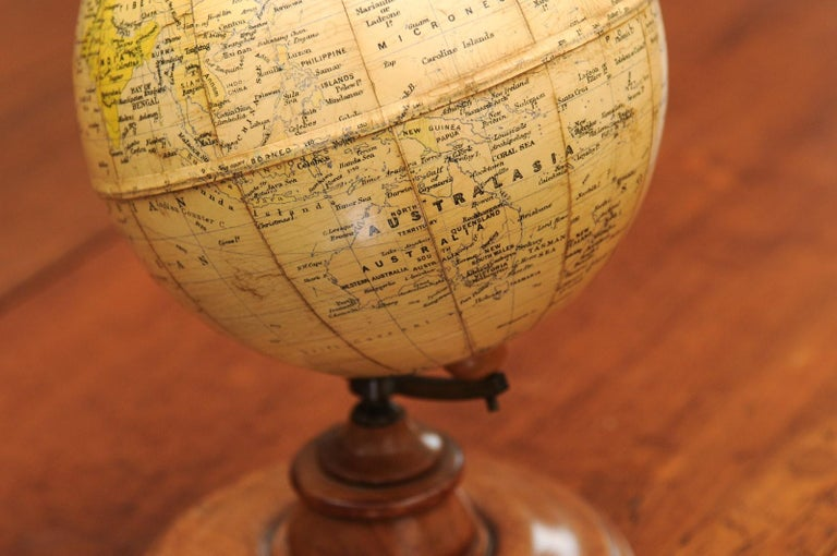 Small English 20th Century George Philip Terrestrial Globe on Wooden Base For Sale 6