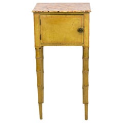 Small English Faux Bamboo Painted Table