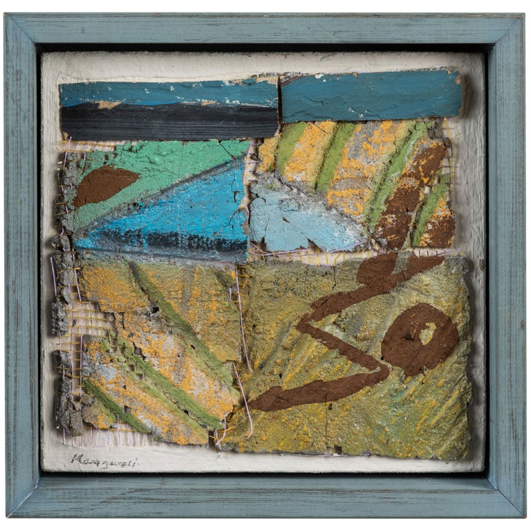 Small English Mixed-Media Collage For Sale