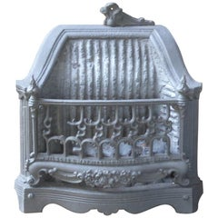 Small English Victorian Fireplace Grate, 19th Century