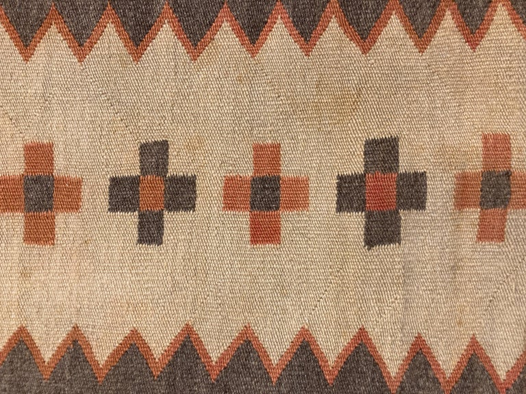 Native American Small, Exquisite Navajo Weaving For Sale
