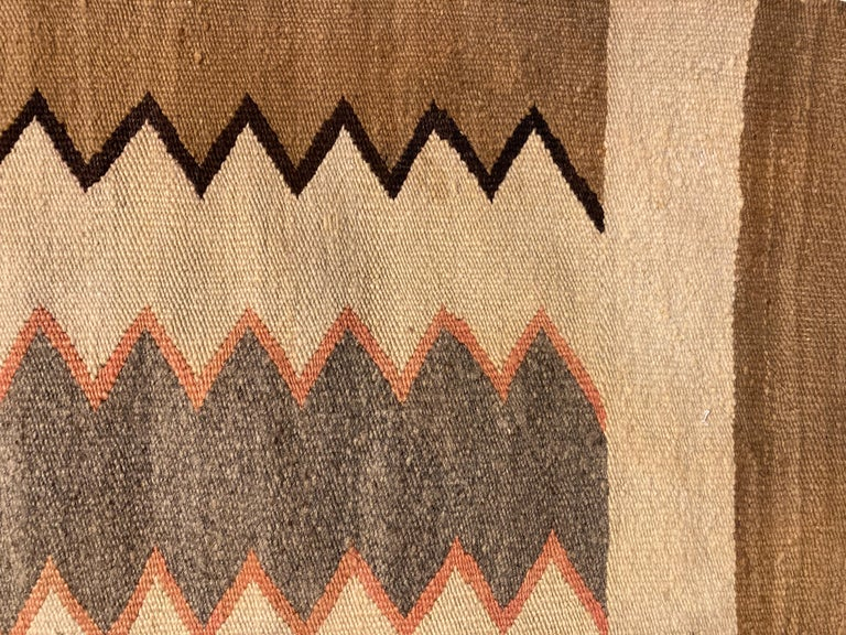 Hand-Woven Small, Exquisite Navajo Weaving For Sale