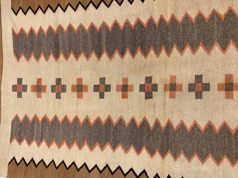 19th Century Small, Exquisite Navajo Weaving For Sale