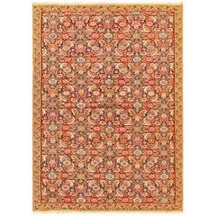 Small Fine Antique Persian Senneh Kilim Rug