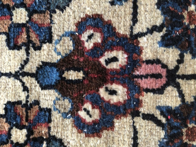 Small Floral Persian Rug Fine Wool For Sale 5