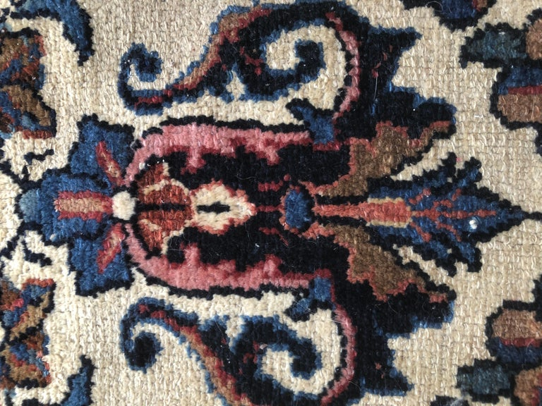 Small Floral Persian Rug Fine Wool For Sale 6