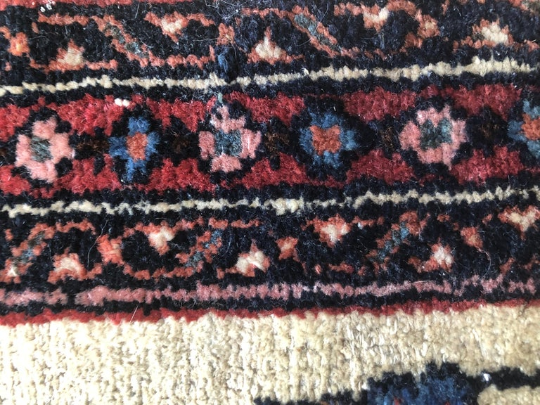 Small Floral Persian Rug Fine Wool For Sale 7