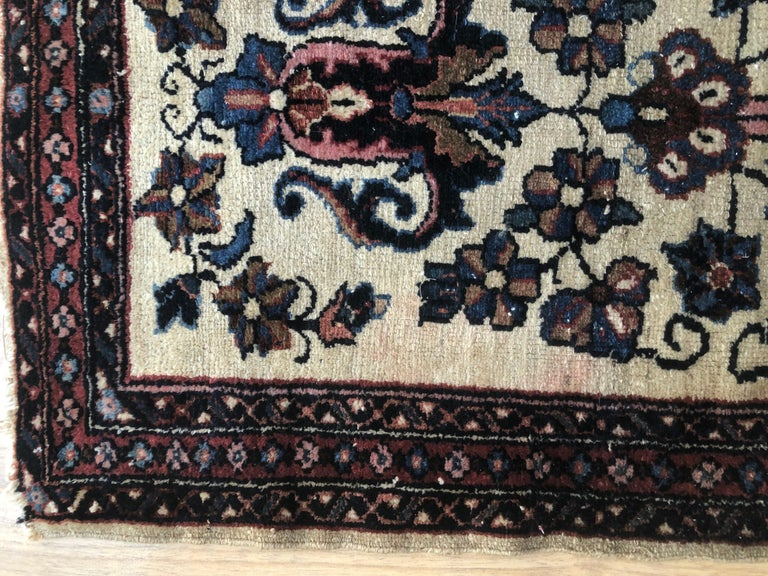 20th Century Small Floral Persian Rug Fine Wool For Sale