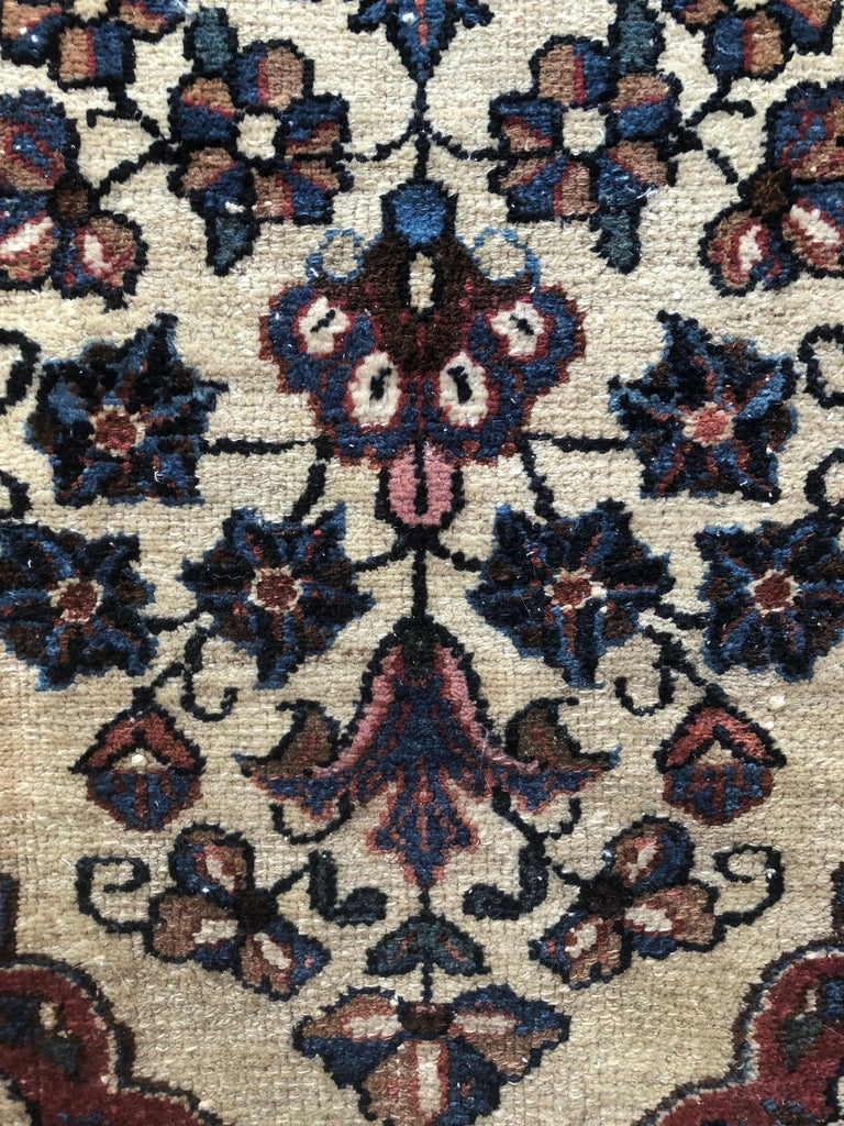 Small Floral Persian Rug Fine Wool For Sale 1