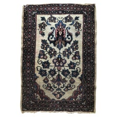 Small Floral Persian Rug Fine Wool