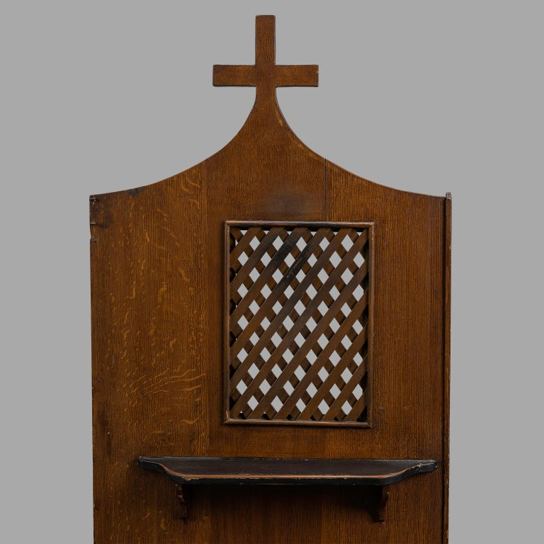 French Small Folk Art Confessional, circa 1900 For Sale