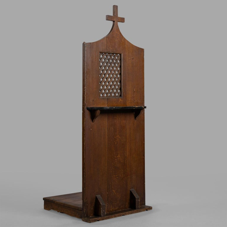 Patinated Small Folk Art Confessional, circa 1900 For Sale