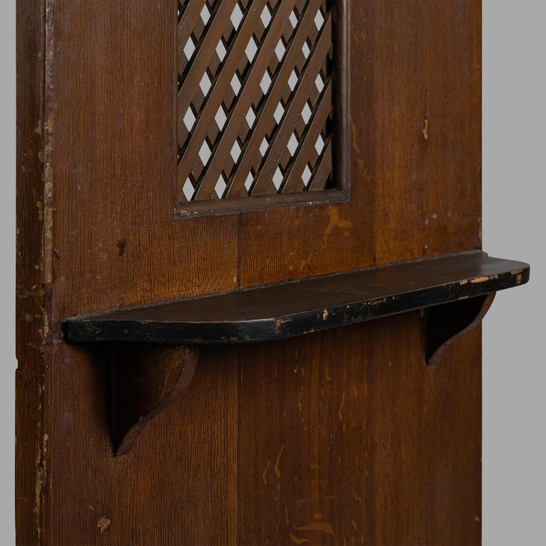 Small Folk Art Confessional, circa 1900 In Fair Condition For Sale In Saint-Ouen, FR