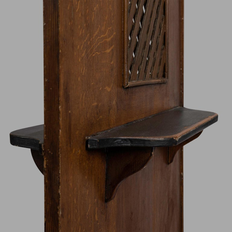 20th Century Small Folk Art Confessional, circa 1900 For Sale