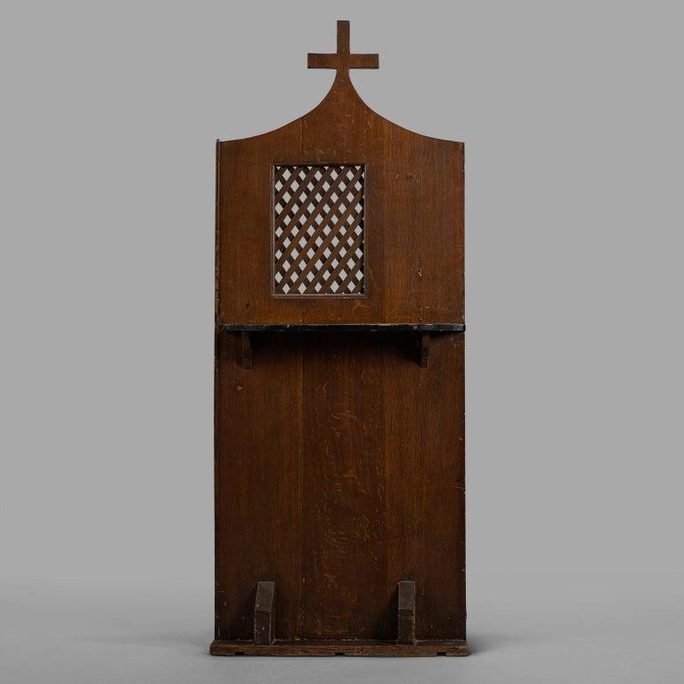 Wood Small Folk Art Confessional, circa 1900 For Sale