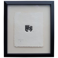 Small Framed Abstract Print by Eduardo Chillida, 21/50