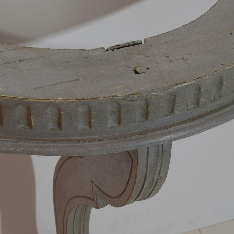 Small French 18th Century Marble-Top Console Table For Sale 4