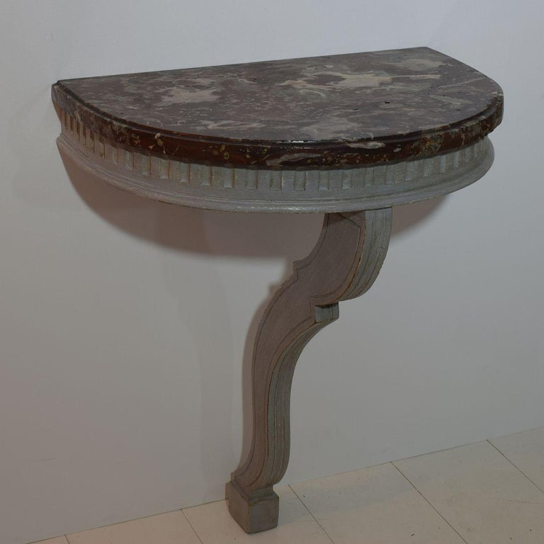 Louis XVI Small French 18th Century Marble-Top Console Table For Sale