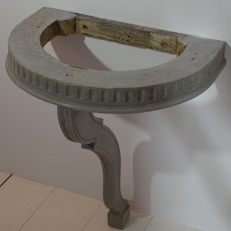 Small French 18th Century Marble-Top Console Table For Sale 1