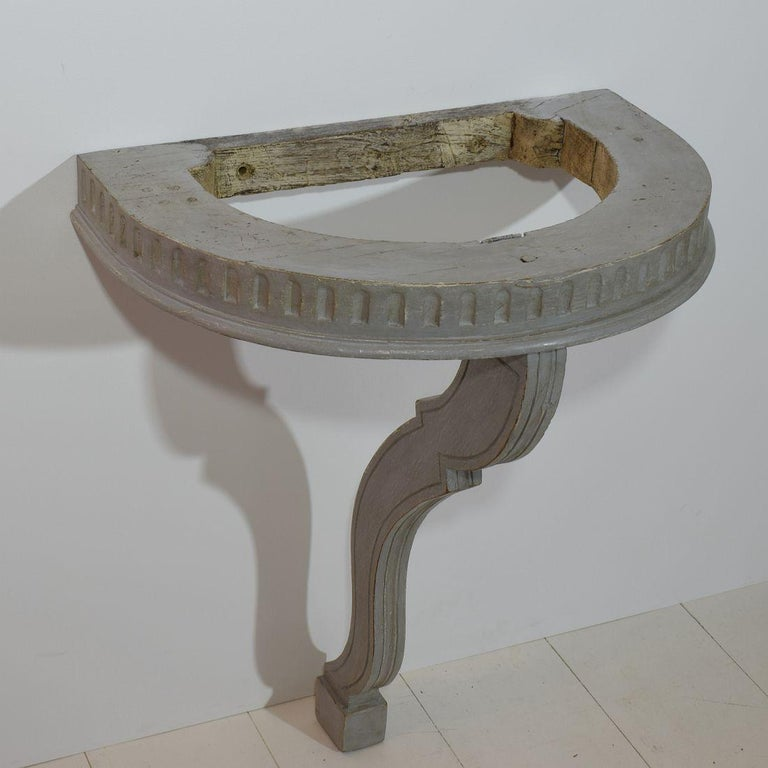 Small French 18th Century Marble-Top Console Table For Sale 2