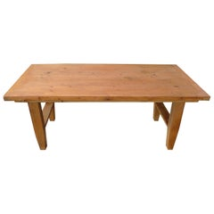 Small French 19th Century Country Pine Coffee Table