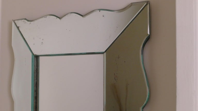 Small French Art Deco Mirror, 1940s For Sale 2