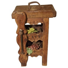 Small French 'Cave A Vin' Wine Bottle Holder Console