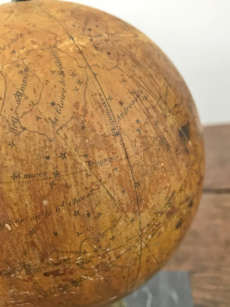 19th Century Small French Celestial Globe, Probably Emile Bertaux, circa 1880-1890 For Sale
