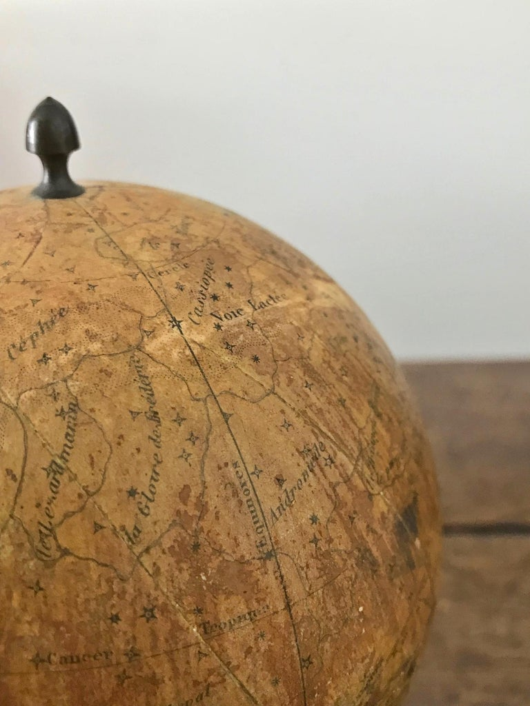 Brass Small French Celestial Globe, Probably Emile Bertaux, circa 1880-1890 For Sale